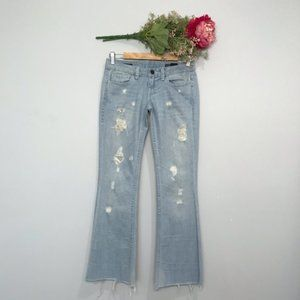 William Rast  Low Rise Distressed Flare Jean SZ 25